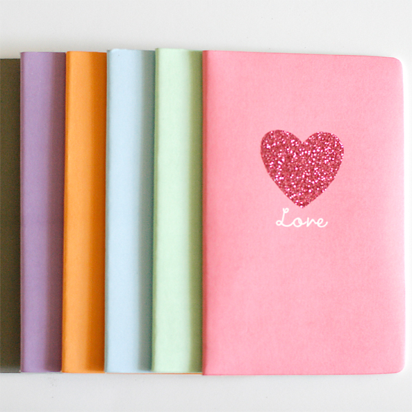 Glittered notebook | Cosmo Cricket