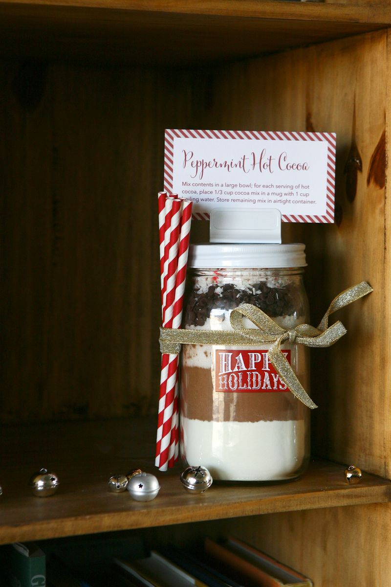 Hot Cocoa Layered Jar