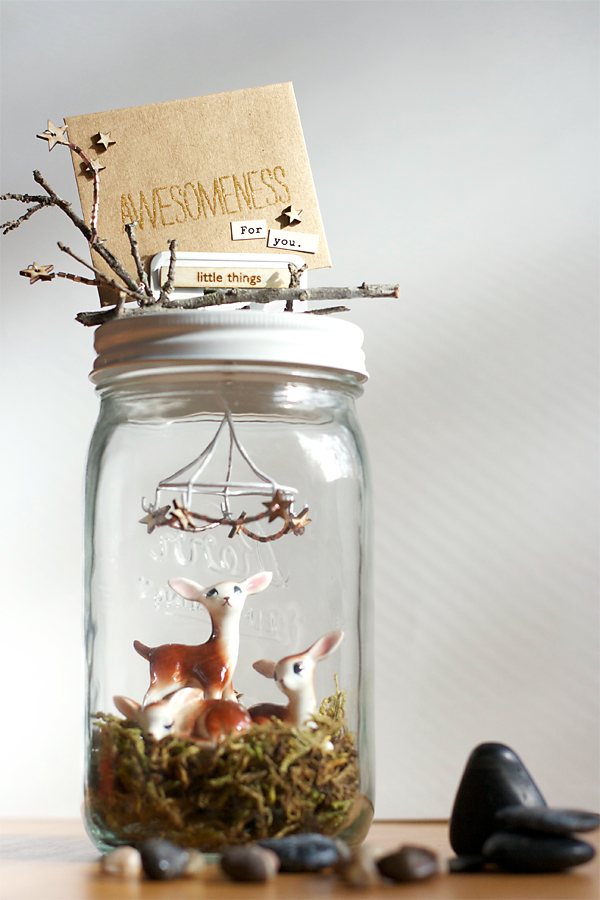 Deer Family Jar | Cosmo Cricket