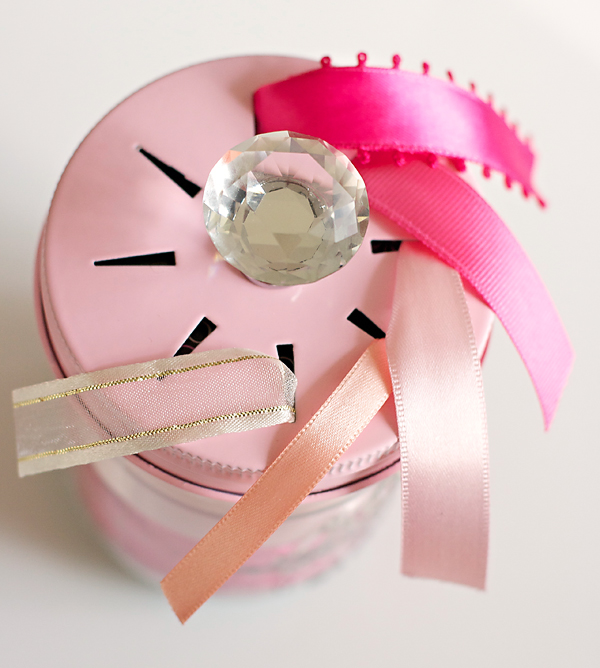 Ribbon Threading Jar Lid   Show Toppers   Cosmo Cricket