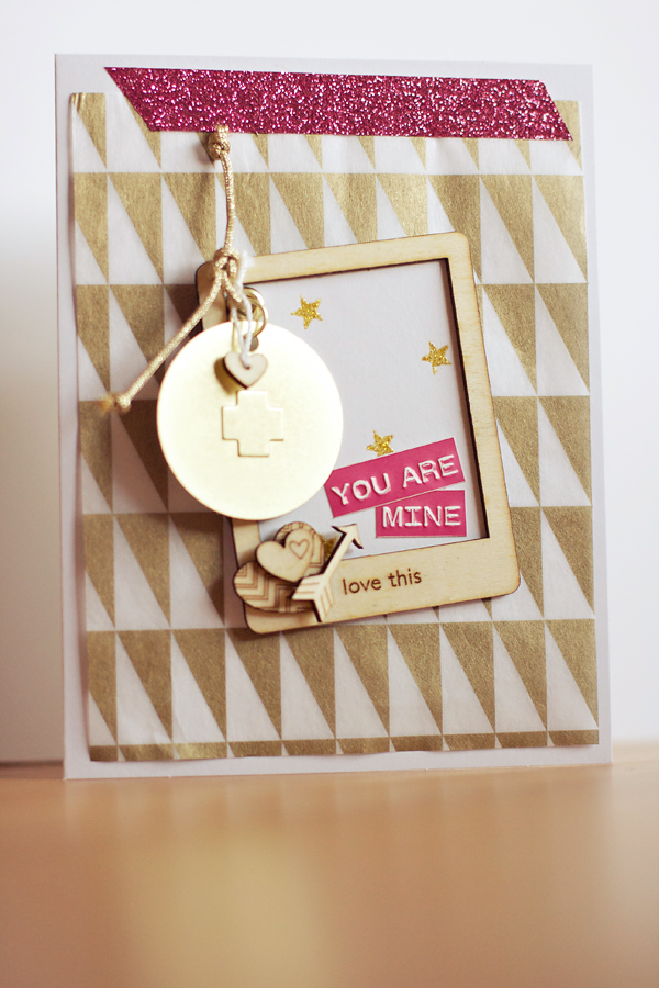 Gold and Wood Card | Cosmo Cricket