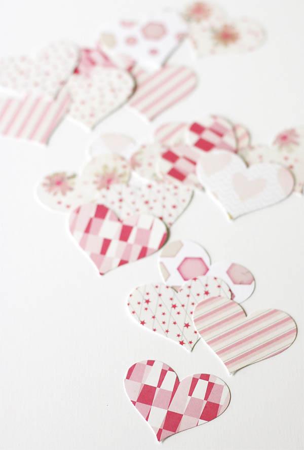 Pretty Paper Heart Valentines
