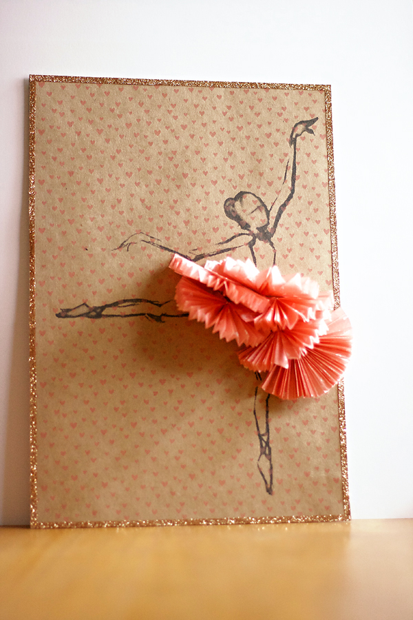 Ballerina on printed kraft | Cosmo Cricket