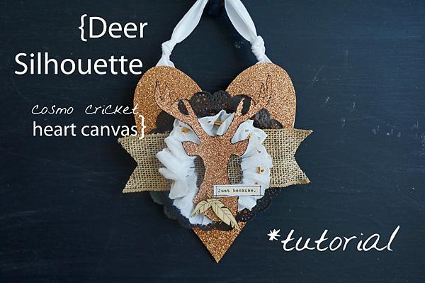 Heart Canvas Deer Silouette Tutorial2 copy