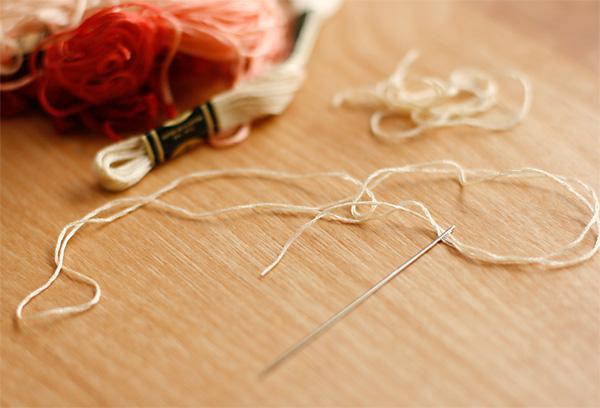 Threading needle