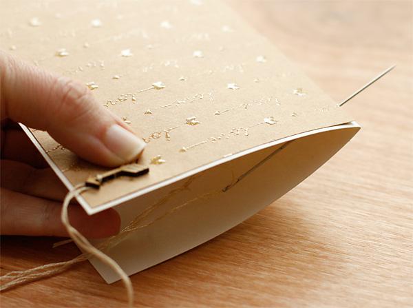 How to wrap string around handmade cards