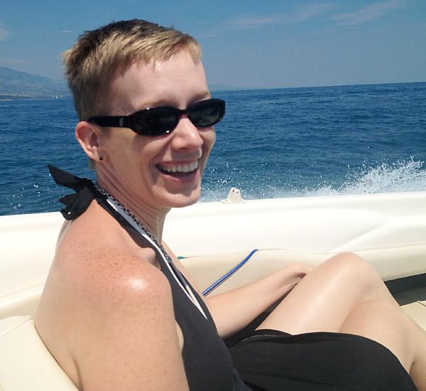Julie on boat