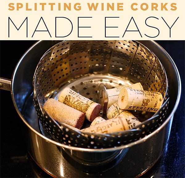 How to split corks