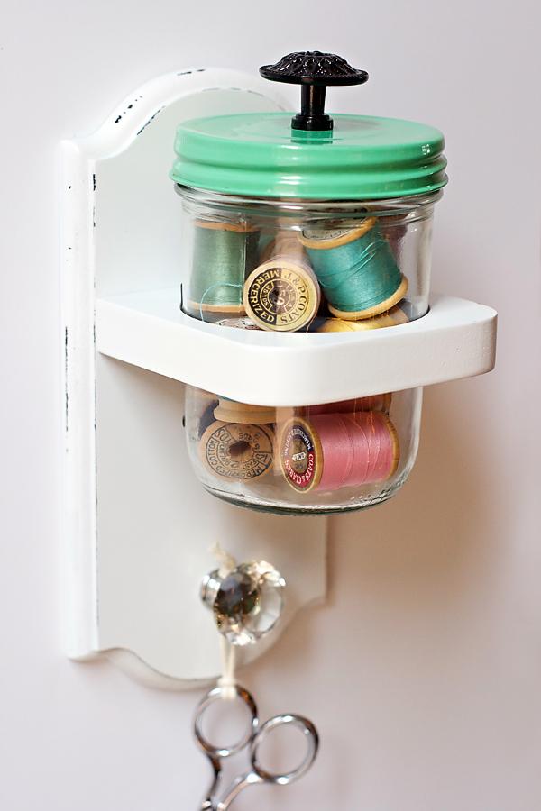 Spools of thread in jar   Cosmo Cricket