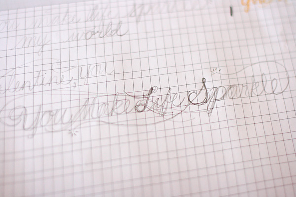 Planning out Hand Lettering