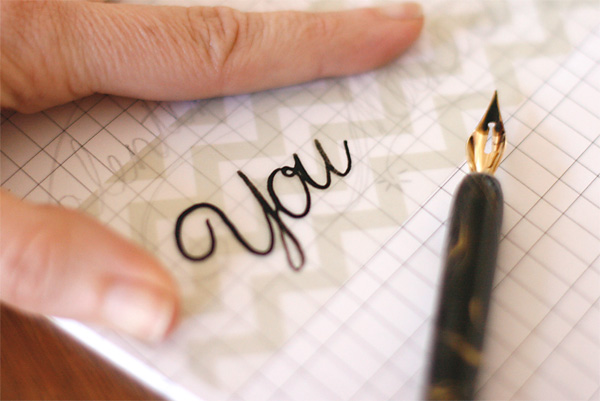 Calligraphy on Vellum
