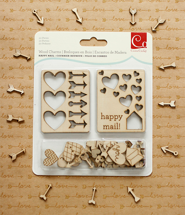 Cute wood charms by Cosmo Cricket