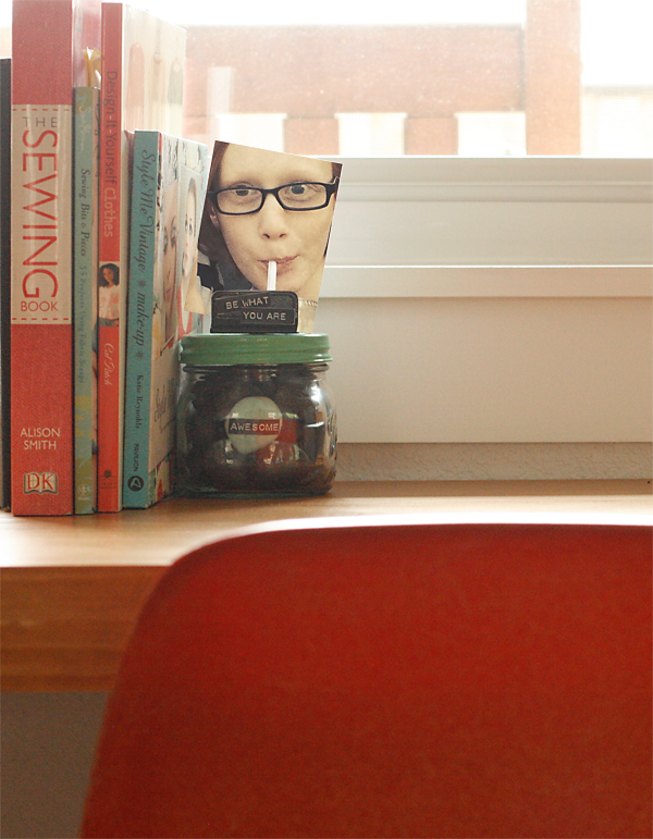 Rock Jar as bookend
