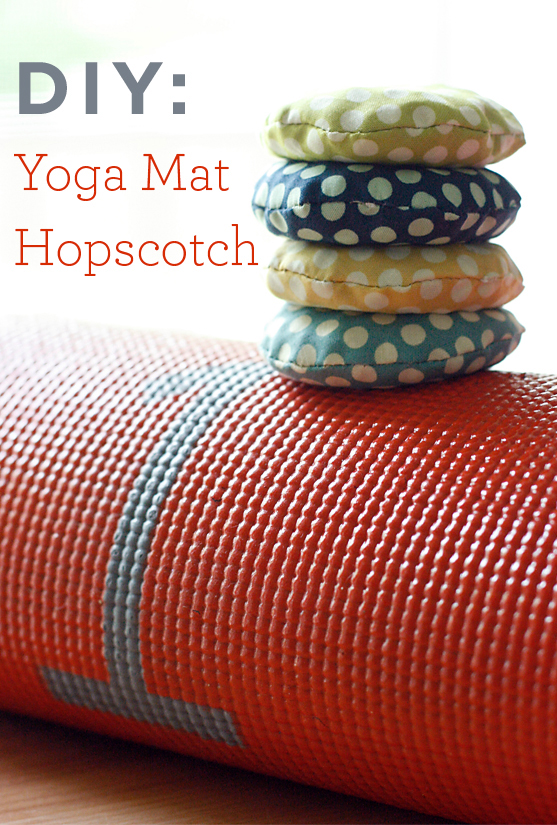 DIY Yoga Mat Hopscotch