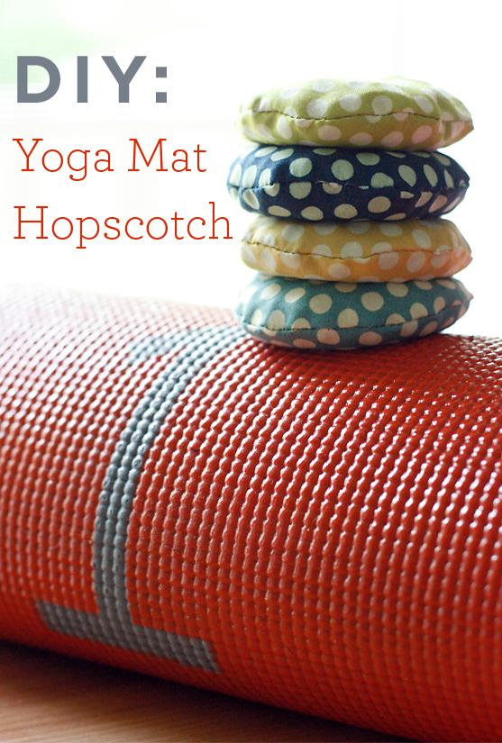 DIY Yoga Mat Hopscotch