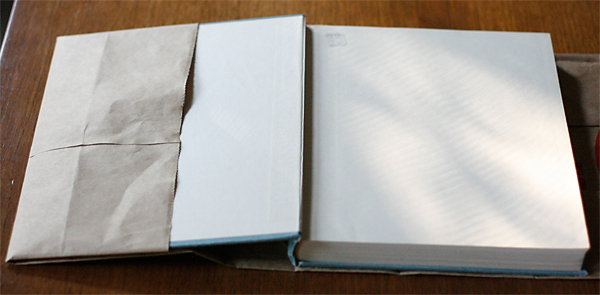 How to make a bookcover out of a bag