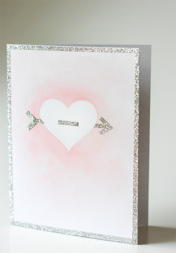simple but beautiful valentine's day card  cosmo cricket