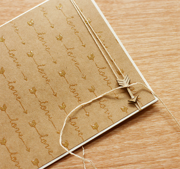 Creative way to attach wood arrows to cards