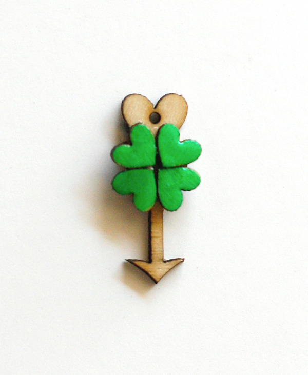 Making Shamrock Charms with Hearts and Arrows