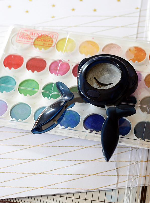 DIY watercolor bookmark supplies