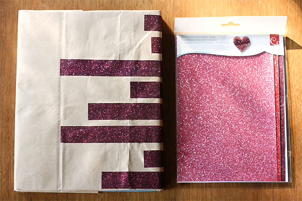 DIY Book Cover- Kraft and Glitter