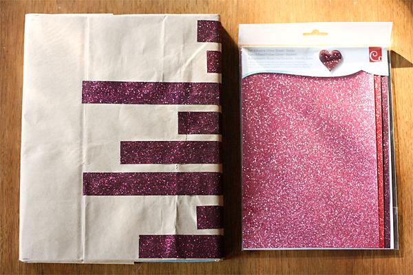 DIY Book Cover- Kraft and Glitter