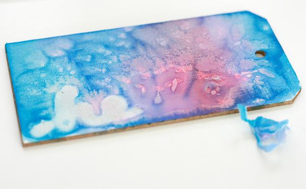 Watercolor and Glue Technique