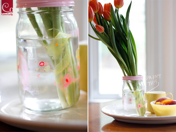 Ethereal Painted Mason Jars