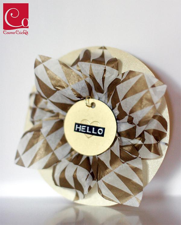 Chiffona Paper Flower Card