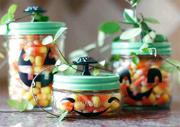Happy Pumpkin Mason Jars | Cosmo Cricket
