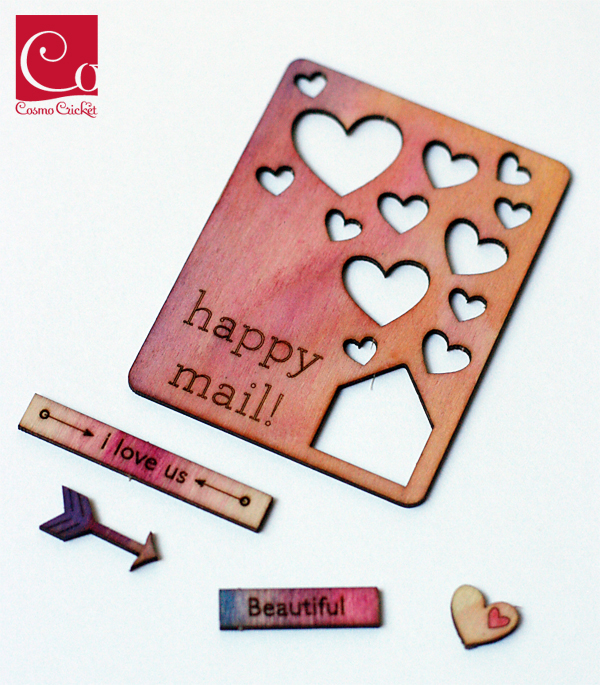 Ombre wood charms