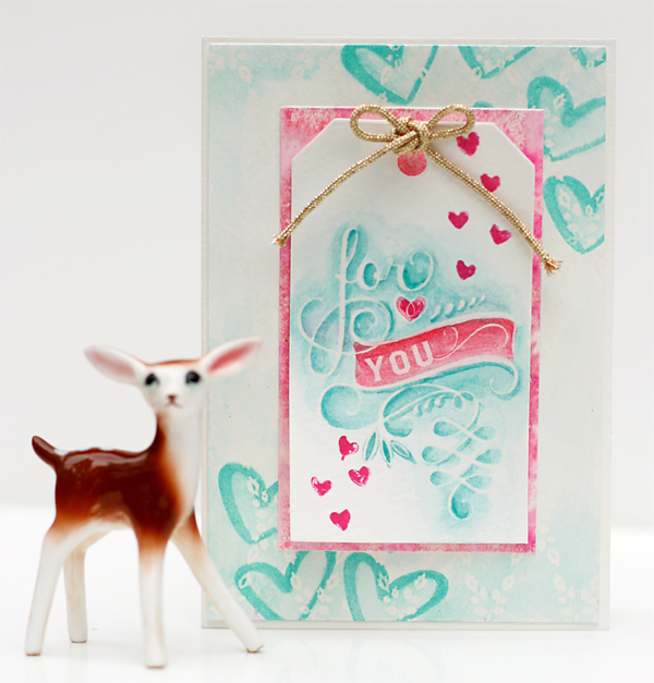 Watercolor card by Julie Comstock