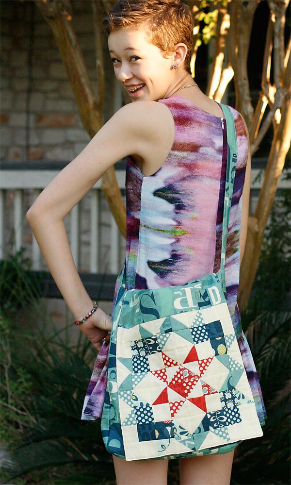 Quilt Fabric Messenger Bag