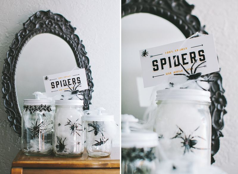 Halloween Mason Jars | Cosmo Cricket Craft
